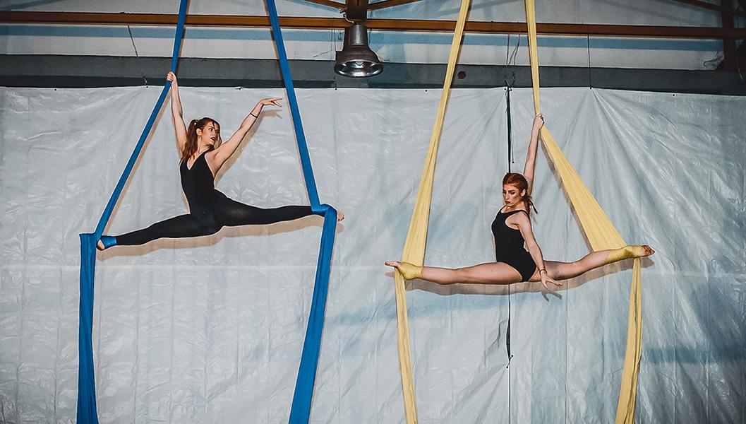 Aerial Silks - Συγχρονισμένο σπαγγάτο