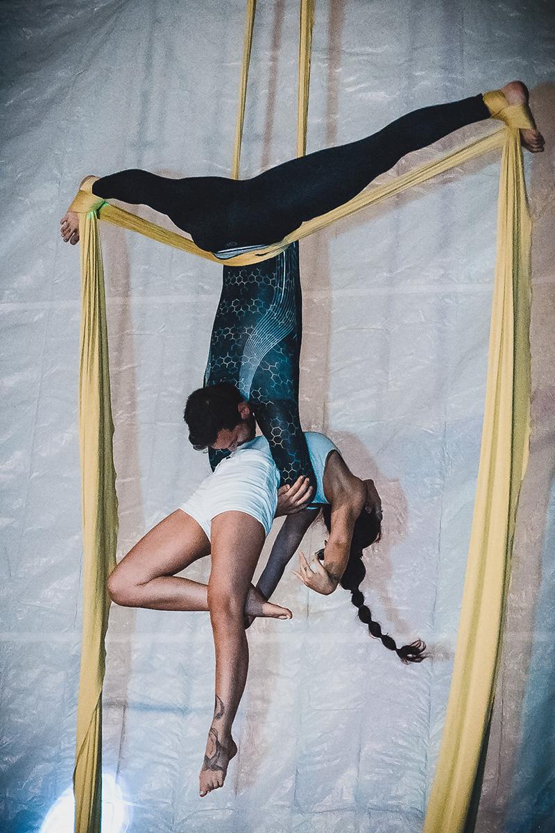 Duo aerial silks